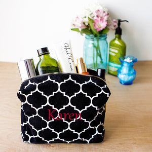 Personalized Moroccan Lattice Cosmetic Bag