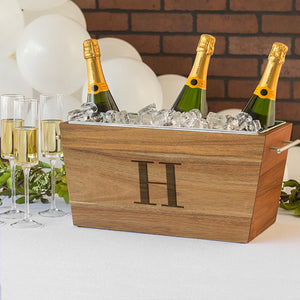 Personalized Acacia Beverage Trough