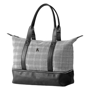 Personalized Glen Plaid Luggage Tote