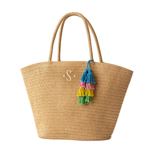 Personalized Straw Tote
