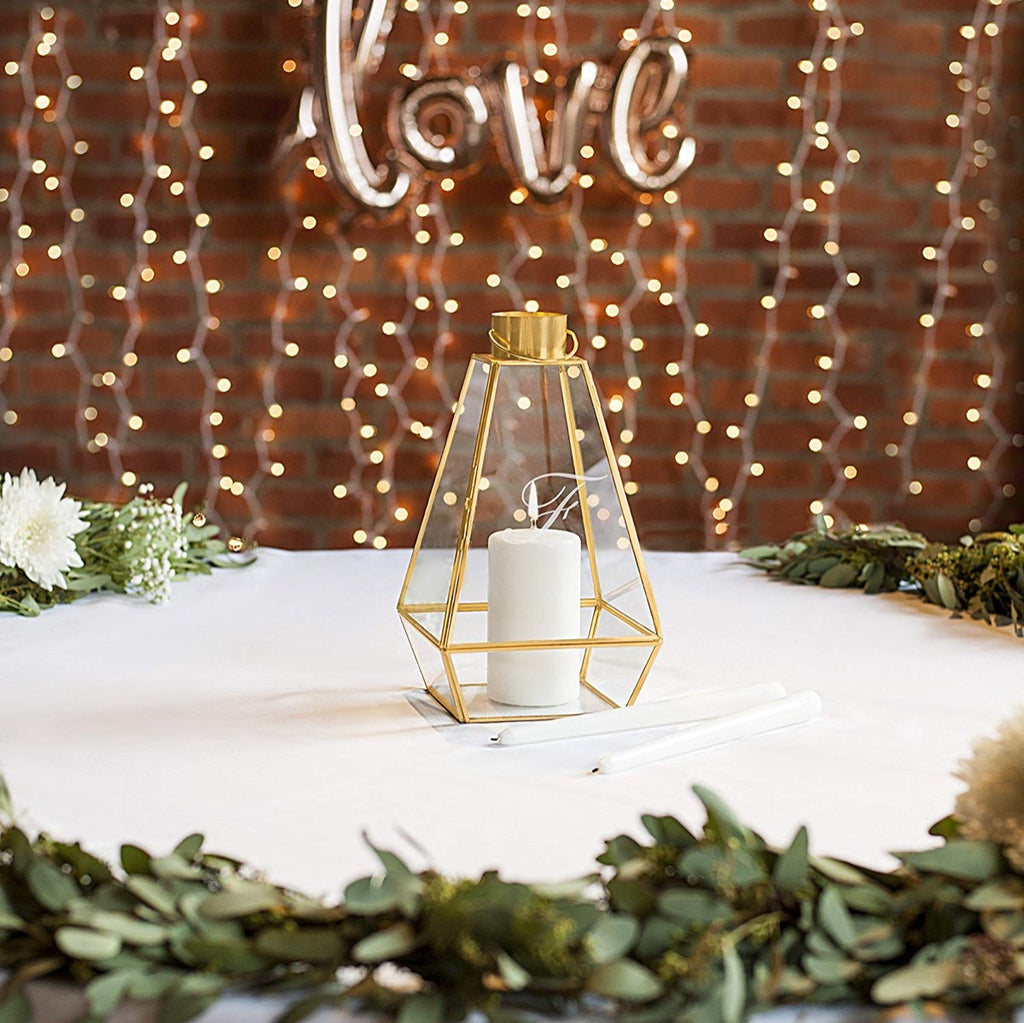 Personalized Gold Metal Unity Lantern