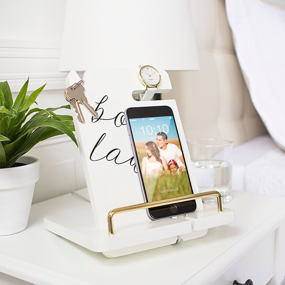 Boss Lady White Lacquer Docking Station