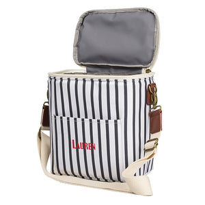 Personalized Striped Lunch Cooler