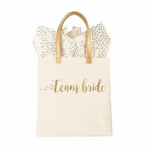 Gold Foil Canvas Tote