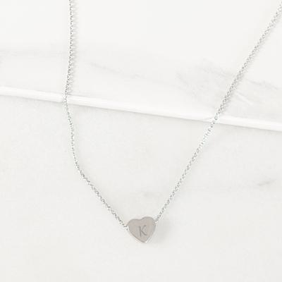 Bridesmaid Heart Slide Pendant Necklace