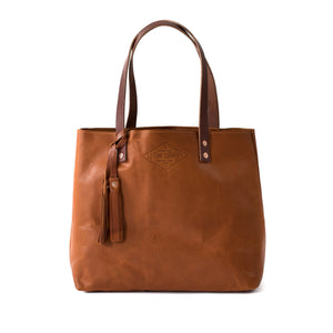 Classic Leather Tote BRANDY