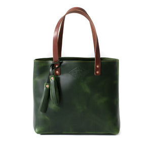 Classic Leather Tote EMERALD GREEN