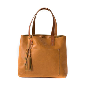 Deluxe Leather Tote BUTTERSCOTCH