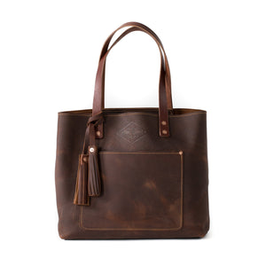 Deluxe Leather Tote COGNAC