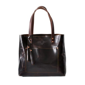 Deluxe Leather Tote ITALIAN BROWN