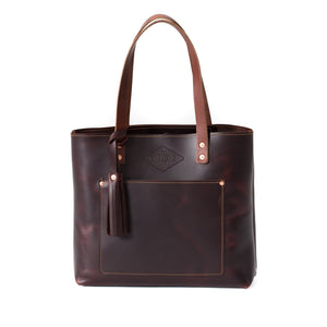 Deluxe Leather Tote OXBLOOD