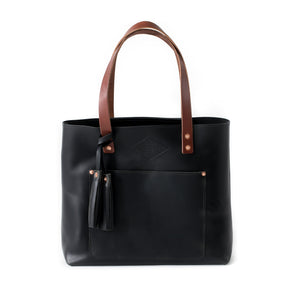 Deluxe Leather Tote OXFORD BLACK