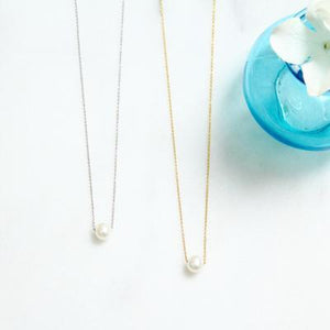 Floating Freshwater Pearl Necklaces - Gift for Bridesmaid