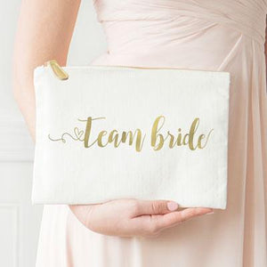 Gold Foil Canvas Clutch