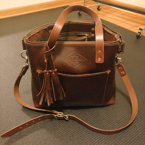 Leather Zipper Tote