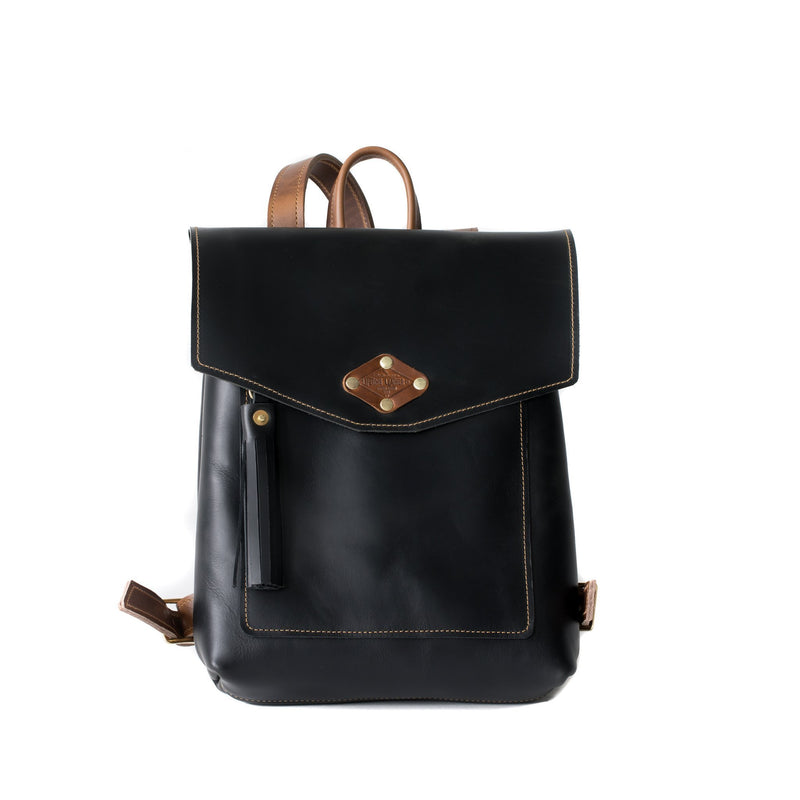 Ladies Leather Rucksack OXFORD BLACK
