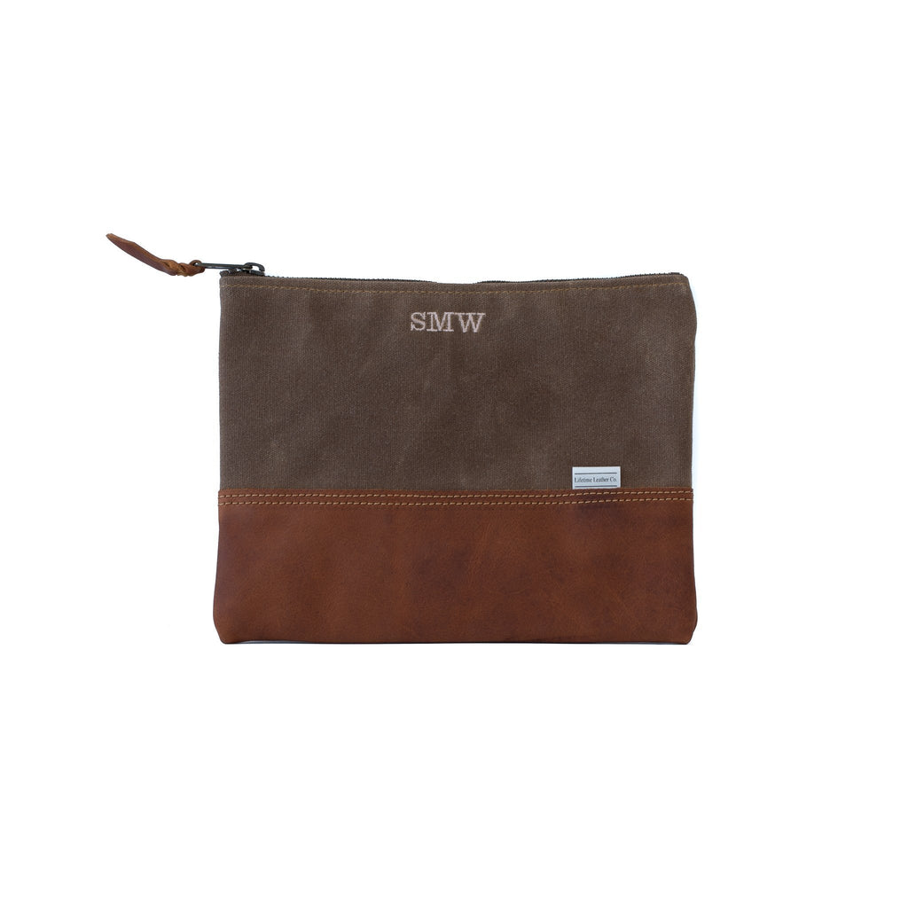 Leather Clutch BRANDY & BROWN