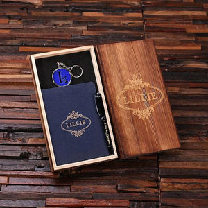 Personalized 4 Pc Journal Gift Set Blue
