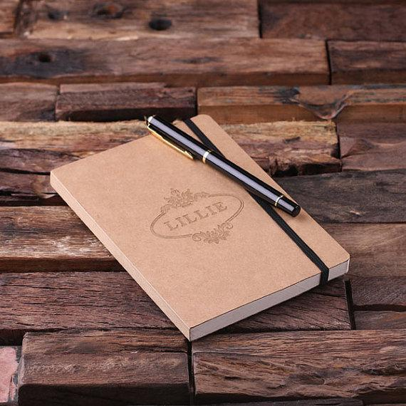 Personalized Banded Portfolio Journal