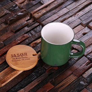 Personalized Ceramic Mug Green
