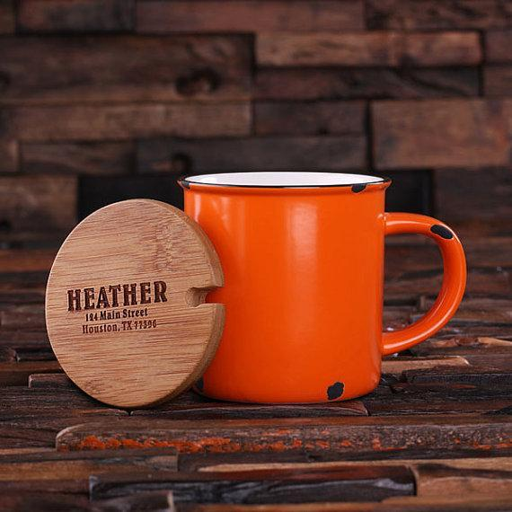 Personalized Ceramic Mug Orange
