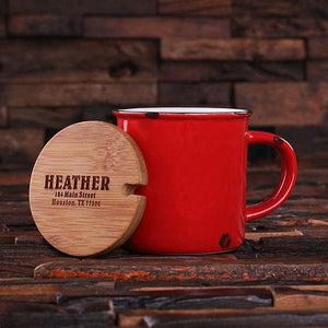 Personalized Ceramic Mug Red