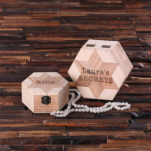 Personalized Nested Octagonal Wooden Jewelry Box