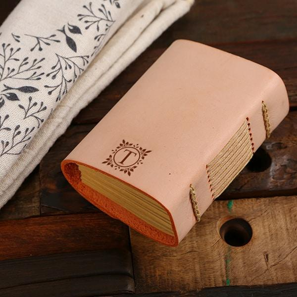 Personalized Shawl & Leather Journal Gift Set For Women