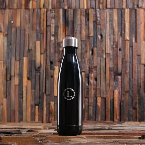 Personalized Water Bottle for Bridesmaids Black