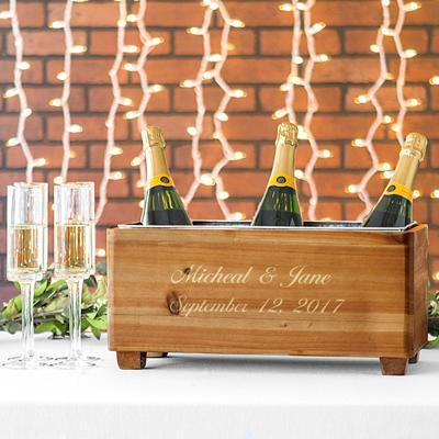 Personalized Wedding Wooden Wine Trough