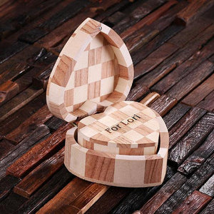 Personalized Wood Hearts Nested Set (2)