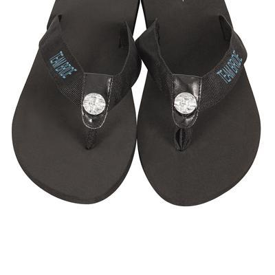 Team Bride Flip Flops Large / Black