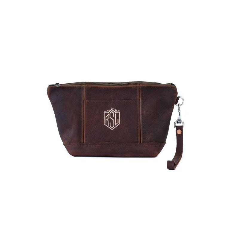 Women's Carry all Leather Cosmetic Bag
