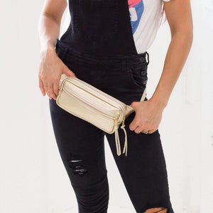 Women's Leather Fanny Pack Gold