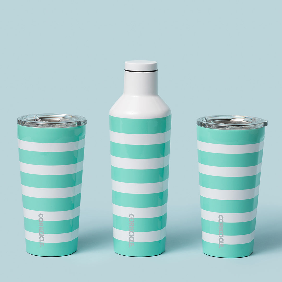 Turquoise Stripe Canteen