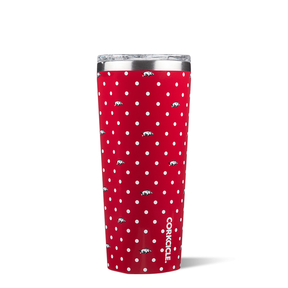 University of Arkansas Polka Dot Tumbler