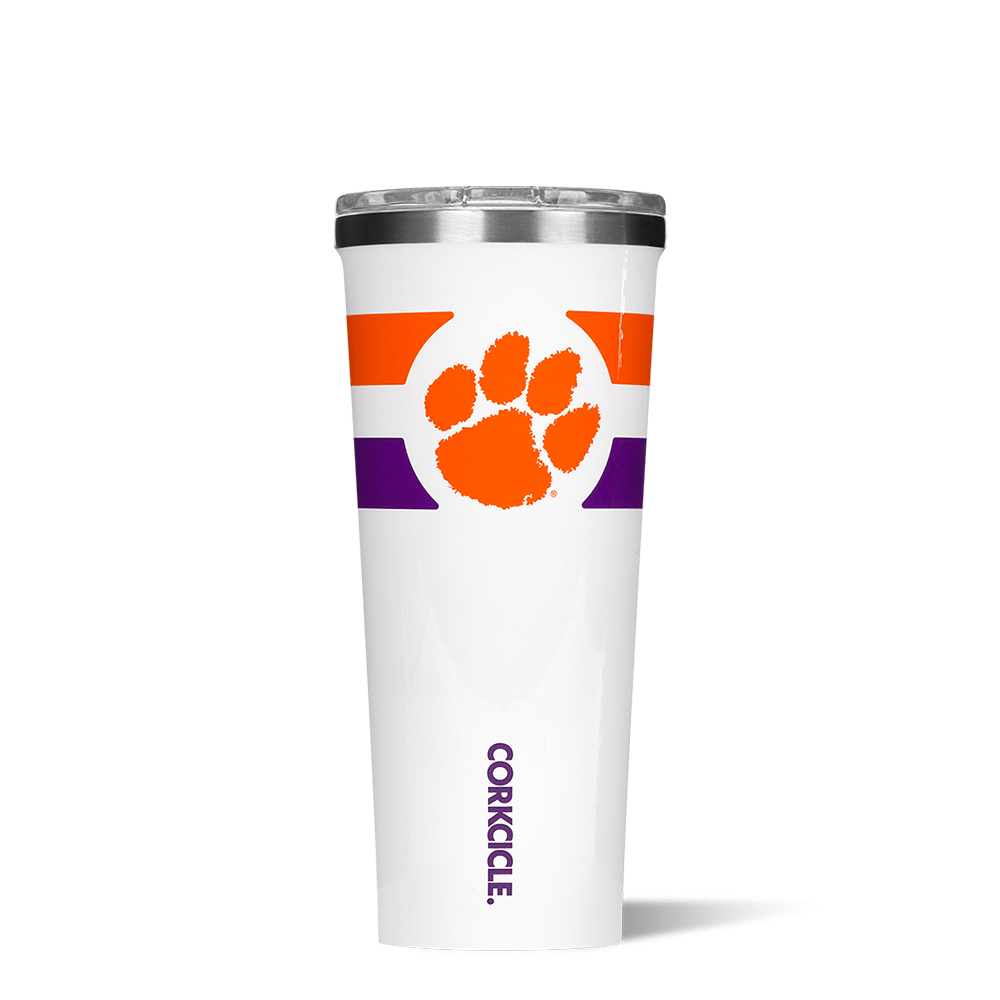 Clemson University Gym Stripe Tumbler