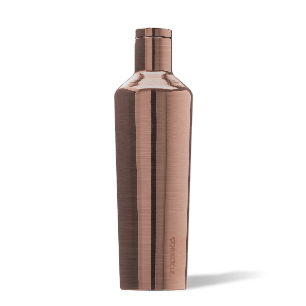 Corkcicle Copper 25oz Canteen Side View.