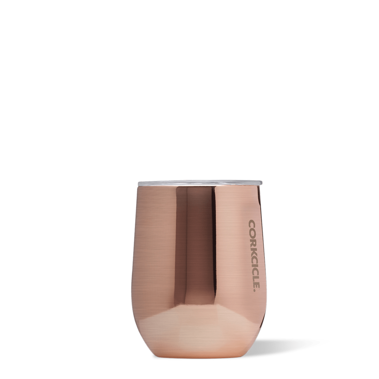 Corkcicle Copper 12oz Stemless Wine Cup.
