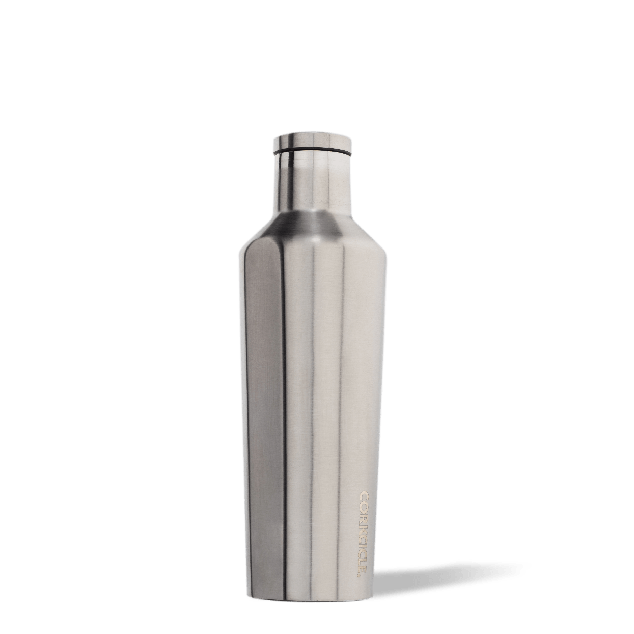 Corkcicle Brushed Steel 16oz Canteen Side View.