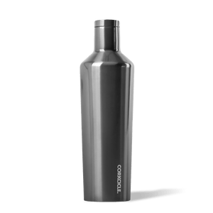 Corkcicle Gunmetal 25oz Canteen Side View.