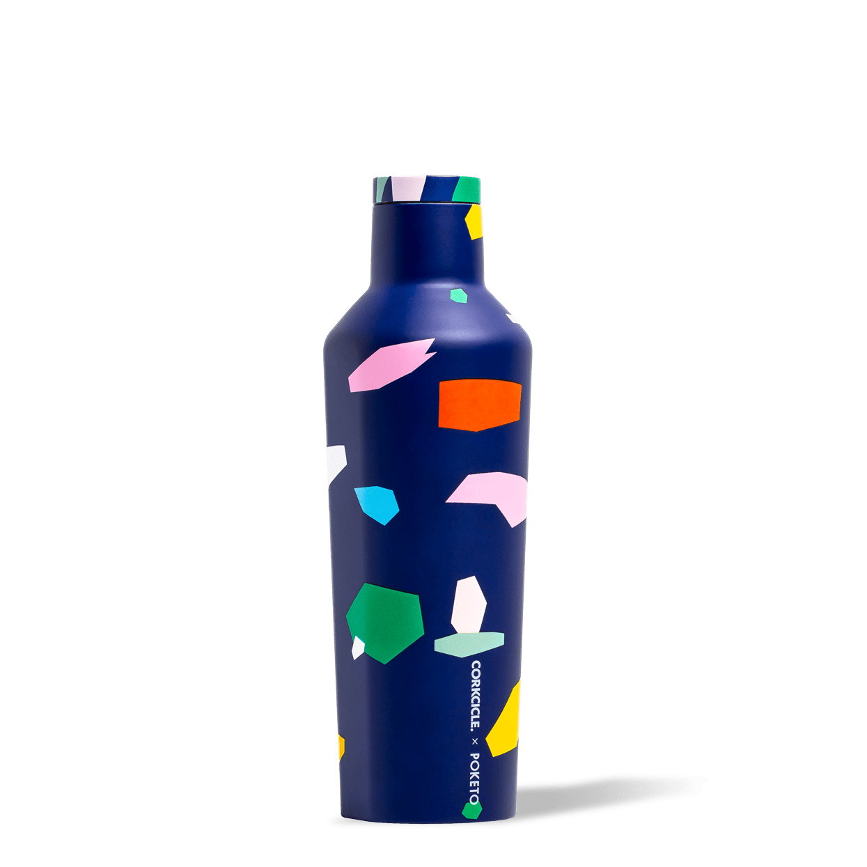 Corkcicle x Poketo Blue Confetti 16oz Canteen.