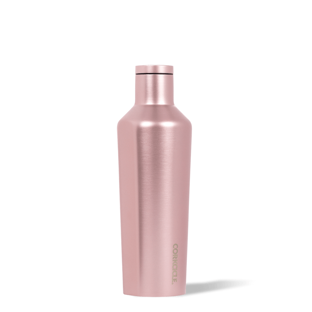 Corkcicle Rosé Metallic 16oz Canteen Side View.