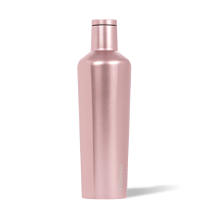 Corkcicle Rosé Metallic 25oz Canteen Side View.