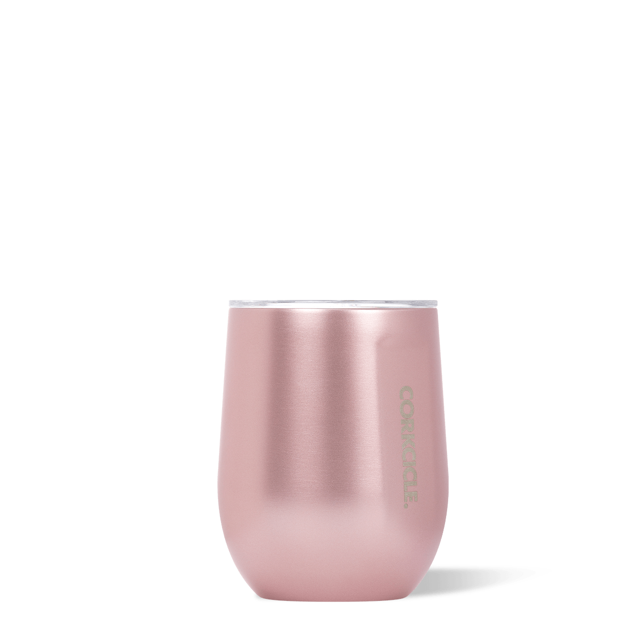 Corkcicle Rosé Metallic 12oz Stemless Wine Cup.