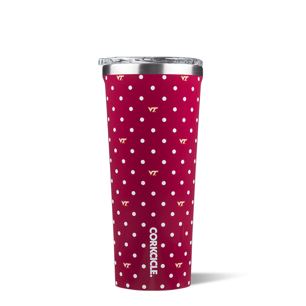 Virginia Tech Polka Dot Tumbler