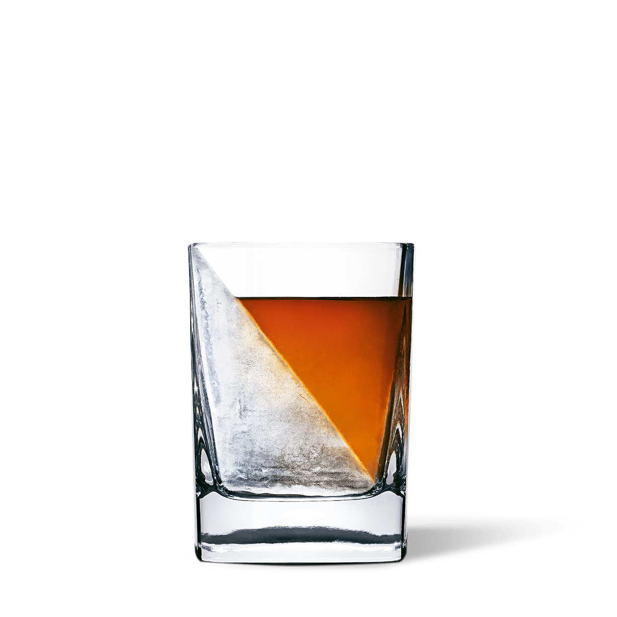 The modern whiskey glass. Whiskey ice mold.