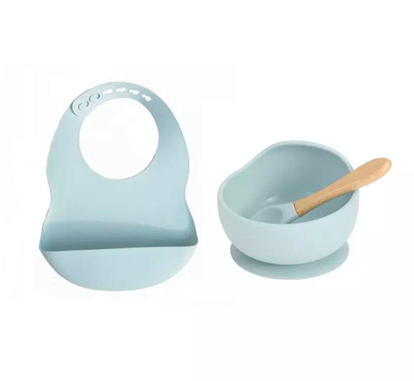 Silicone Feeding Set (Blue)