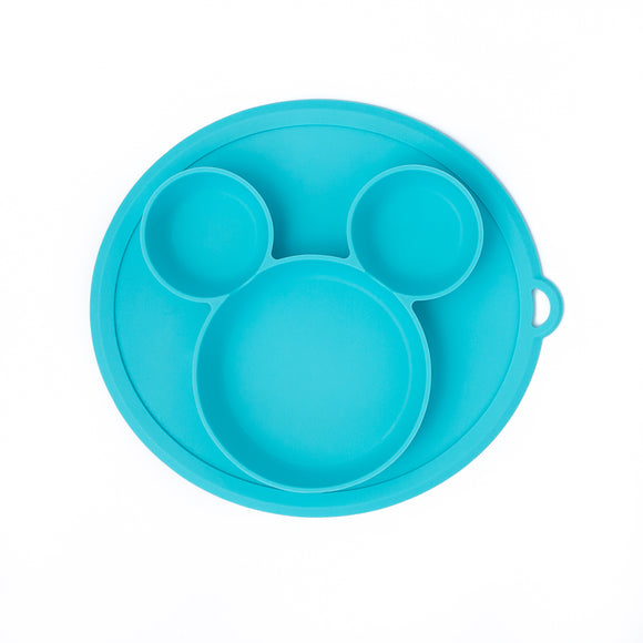 Mouse Ears Silicone Plate (Blue)