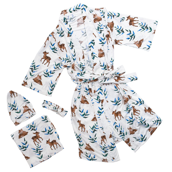 Bamboo Maternity Robe Set (Deer)